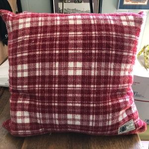 "TOMMY HILFIGER PILLOW 20"" THROW TOSS RED PLAID"